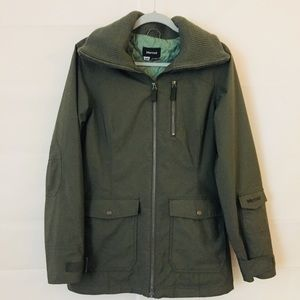 Marmot Mens Jacket quilted lining hood pockets M